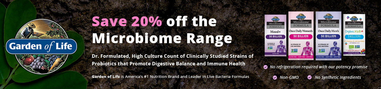 20% off Garden of Life Microbiome